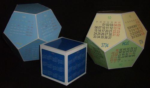 календарь додекаэдр на 2014 год - Сумки.